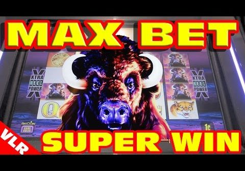 Original Buffalo – MAX BET SUPER BIG WIN – Slot Machine Bonus