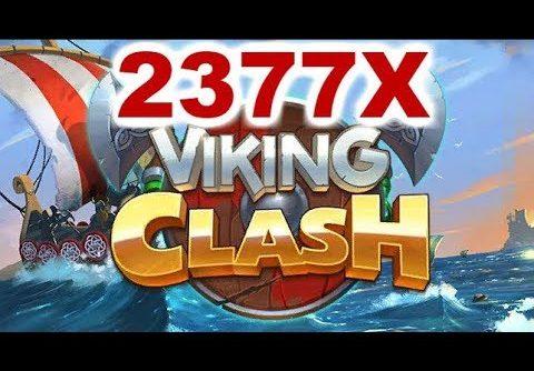 TOP 5 BIGGEST WIN ON VIKING CLASH SLOT – MEGA INSANE HIT 2377X !!!!!