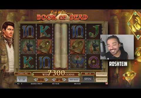 ROSHTEIN – RECORD WIN ON SLOT BOOK OF DEAD. WIN € 30000