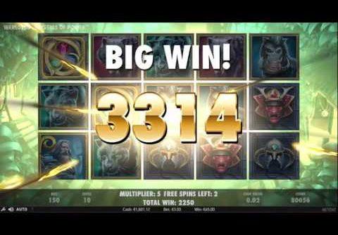 Warlords Slot- €3 Bet – Super Mega Win – NetEnt