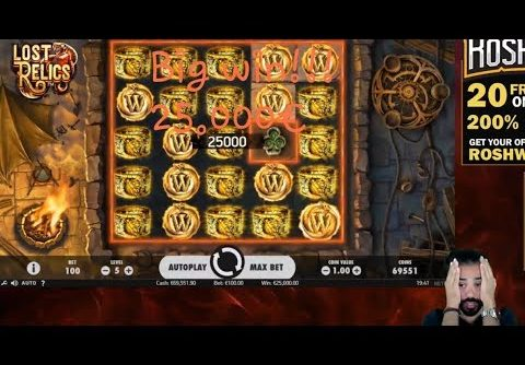 Big win slots  the LOST RELICS! Total 25.000€!