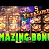 SWEET *SUPER BIG WIN* | 5 TREASURES SLOT MACHINE BONUS
