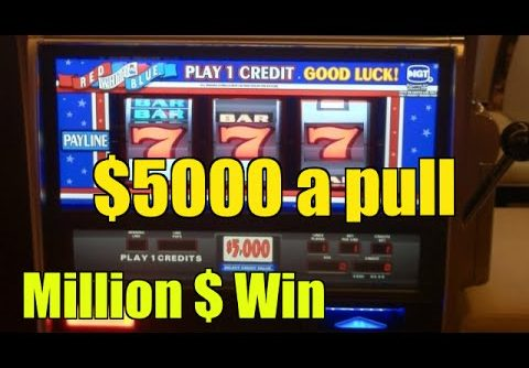 $5000 a pull High limit slot machine Aria Las vegas Mega win 1.75 Million