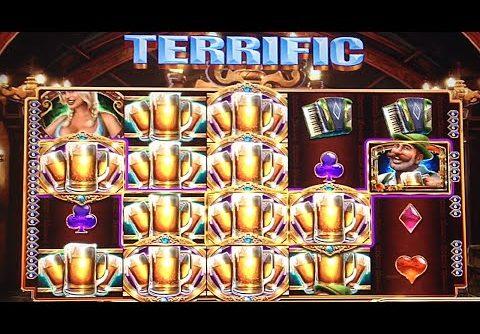 JACKPOT HANDPAY! Bier Haus Slot Mega Win Bonus 55+ Spins ~ 1000x Pay