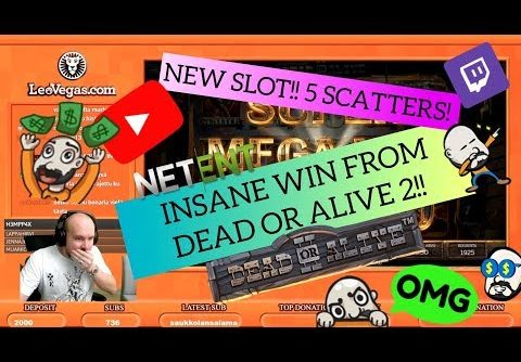 NEW SLOT!! 5 SCATTERS! INSANE WIN FROM DEAD OR ALIVE 2!!