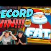 RECORD WIN! Fat Santa BIG WIN – MEGA WIN on Casino slot from CasinoDaddy