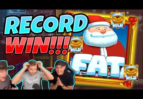 RECORD WIN! Fat Santa BIG WIN – MEGA WIN on Casino slot from CasinoDaddy