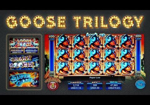 Goose Slot Trilogy – Crazy, Loose, and Super – BIG WIN Longplay!