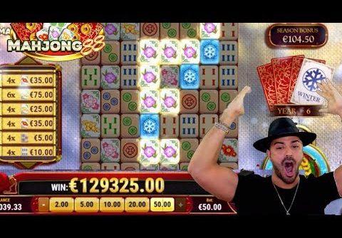 MAHJONG88 €129.000 RECORD WIN! By Roshtein – Online Casino Slots Mahjong88 Play'n'go
