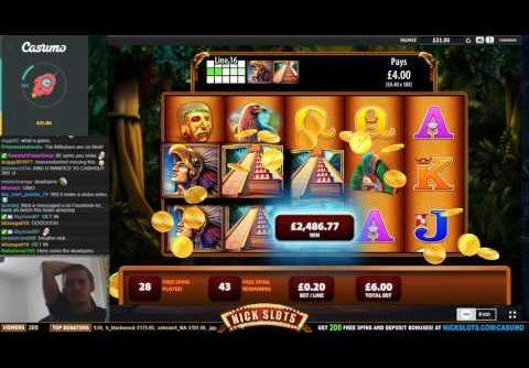 HUGE WIN on Montezuma Slot – £6 Bet!