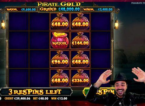 Pirate Gold Slot Mega Win Major Lucky Treasure Bag