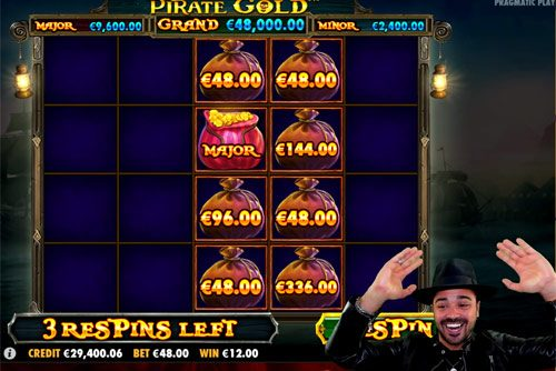 Pirate Gold Slot Mega Win Major Lucky Treasure Bag