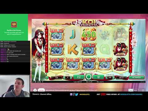 130 Win on Koi Princess Slot   4 Wild Reels