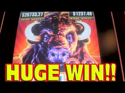 Buffalo Stampede * HUGE WIN * Las Vegas Slot Machine MEGA BIG WIN