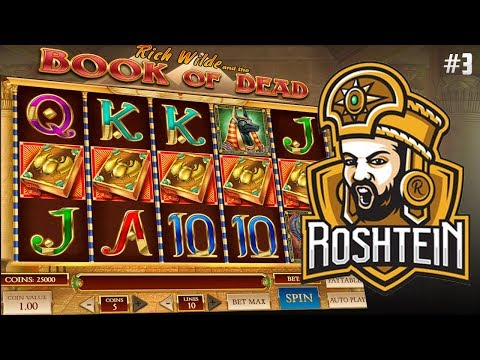 BOOK OF DEAD SLOT MASHINE – ROSHTEIN BIG RECORD 61000 WIN. ONLINE CASINO GAMES #3