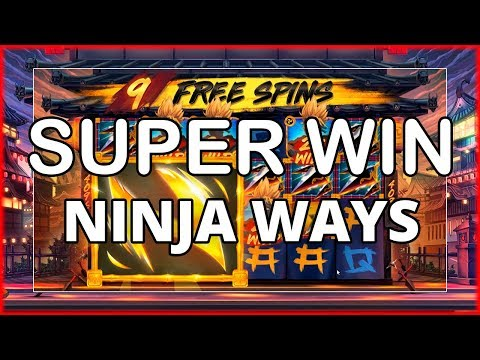 SUPER MEGA WIN ON NINJA WAYS – NEW RED TIGER SLOT!!