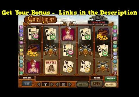 Gunslinger Slot Machine Bonus BIG WIN!