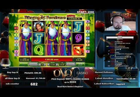 Rings Of Fortune Slot Gives Super Big Win!!