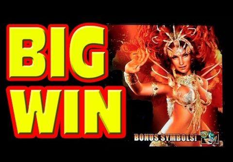 Dancing in Rio MEGA BIG WIN with ZERO CREDITS left!   Las Vegas Slot Machine Progressive Bonus