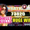 *HUGE BIG WIN! NEW!* SWEET SKULLS | MAX BET! Aristocrat Slot Machine Bonus (Sweet Moonlight)