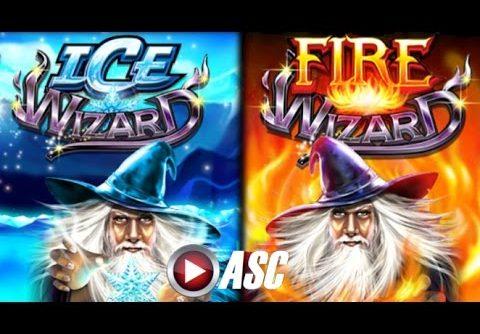 *NEW* ICE WIZARD & FIRE WIZARD | Wonder Wizard Big Win! Slot Machine Bonus (Ainsworth)