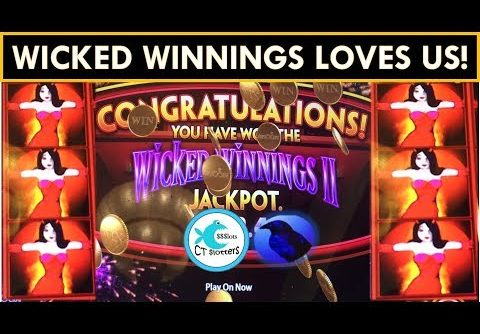 CHASING PROGRESSIVES WORKS! SUPER BIG WINS! Wicked Winnings Slot Machine WONDER 4 JACKPOTS