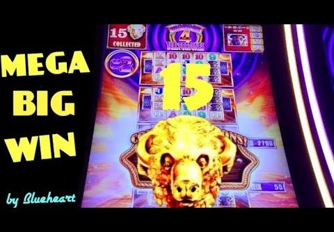 15 BUFFALO GOLD HEADS! MEGA WIN! Tall Fortunes slot machine BONUS WINS!