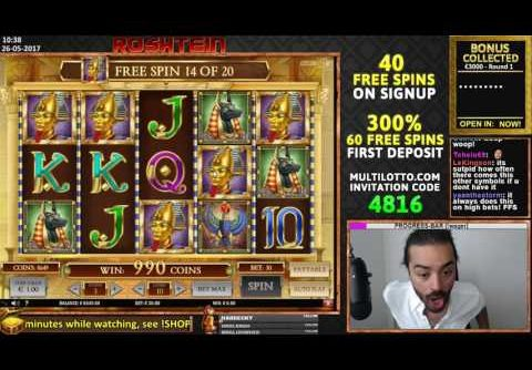 BIG RECORD €61000 WIN!! Playing Highroll Book of Dead slot (2000x)