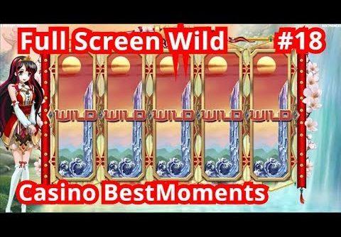 Casino BestMoments | TOP5 Biggest Wins #18  Full Screen Wild. Super Mega Big Win!