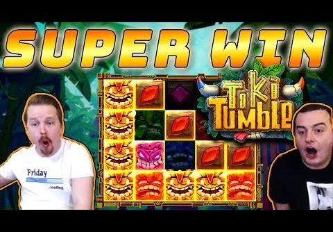 MEGA BIG WIN in Tiki Tumble slot