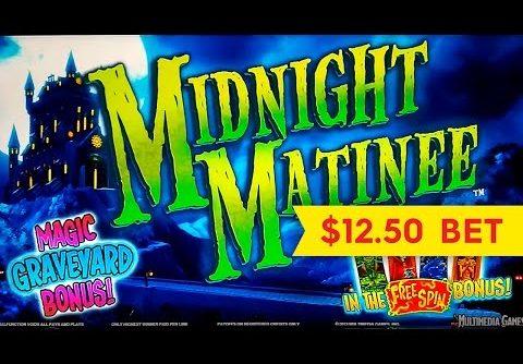 Midnight Matinee Slot – BIG WIN Bonus – $12.50 Max Bet!