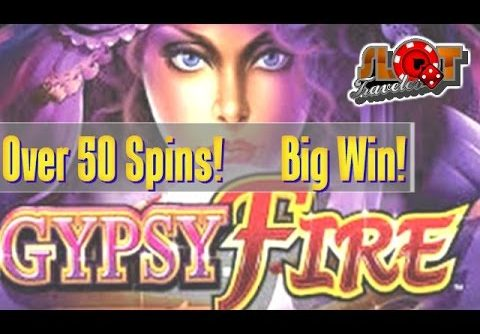 ** BIG WIN ** GYPSY FIRE slot machine bonus – Re-Trigger City!?  ♠ SlotTraveler ♠