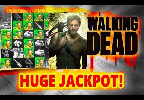 ** MEGA JACKPOT ** The WALKING DEAD slot machine Max Bet BIG JACKPOT HANDPAY WIN!