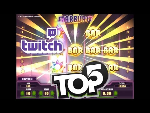 Top 5 BIGGEST WINS ON STARBURST SLOT w/reactions! [TWITCH]