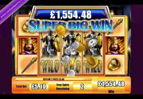 £5 135 MEGA BIG WIN 1007 X! BIG WIN SLOTS AT JACKPOT PARTY! ONLINE CASINO UK