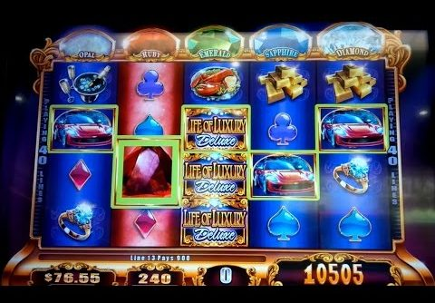 Life of Luxury Deluxe Slot Machine *SUPER BIG WIN* and Progressives Bonus!