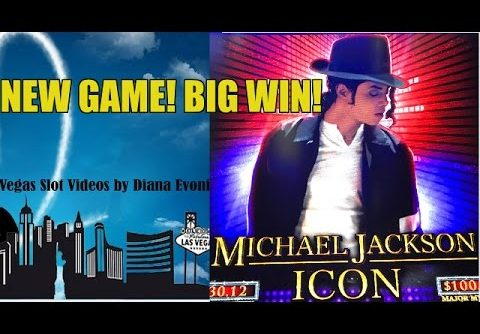 NEW! BIG WIN! MICHAEL JACKSON ICON SLOT MACHINE BONUS