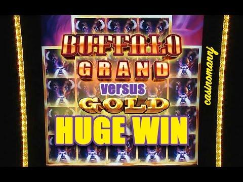 BUFFALO GRAND vs. BUFFALO GOLD SLOT – HUGE WIN!!! – Slot Machine Bonus