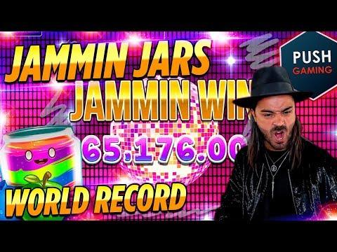 ROSHTEIN  win 75.000 € New World Record Jammin Jars slot – Top 5 Best Wins on Push Gaming