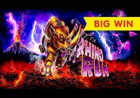 BIG WIN BONUS! Rhino Run Slot – DOUBLE RETRIGGER!