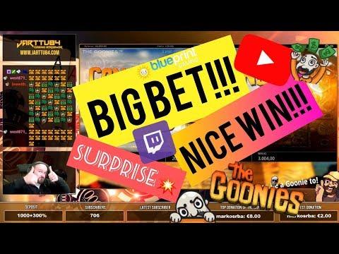 Big Bet!! Goonies Slot Surprises With Nice Win!!