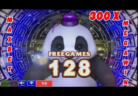 $$$$  Panda Spirit Max Bet Slot bonus  128 FREE GAMES MEGA WIN $$$$