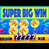 "SUPER BIG WIN!! ""GOLDFISH DELUXE"" Slot w/ MY DAD! – Slot Machine Bonus Win Videos"