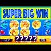"SUPER BIG WIN!! ""GOLDFISH DELUXE"" Slot w/ MY DAD! – Slot Machine Bonus Win Videos"