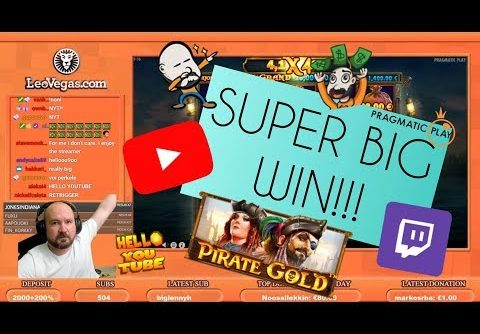 Super Big Win From Pirate Gold Slot!!