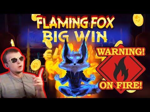 MEGA BIG WIN on Flaming Fox Slot!