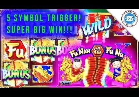 EPIC Comeback 5 Symbol Trigger Fu Nan Fu Nu Slot Machine! SUPER BIG WIN! $5.28 Bonuses!