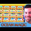 Ocean Magic Slot Machine | Big Win on Small Bet! | Nearly full screen of Wilds!