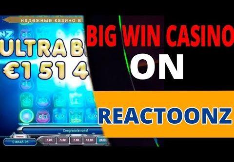 MEGA BIG WIN ON REACTOONZ. SUPER RECORD WIN CASINO ONLINE IN SLOT MACHINES