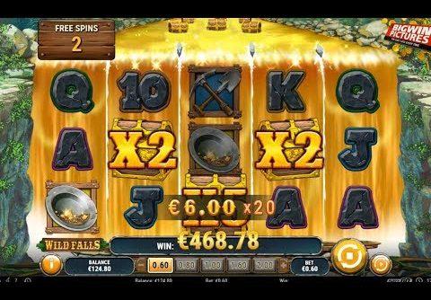 Wild Falls Slot – Gold Rush Spins MEGA WIN!